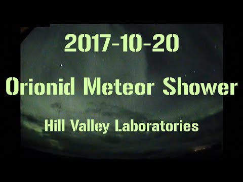 2017-10-20 Live streaming the Orionid meteor shower. And some Aurora Borealis.