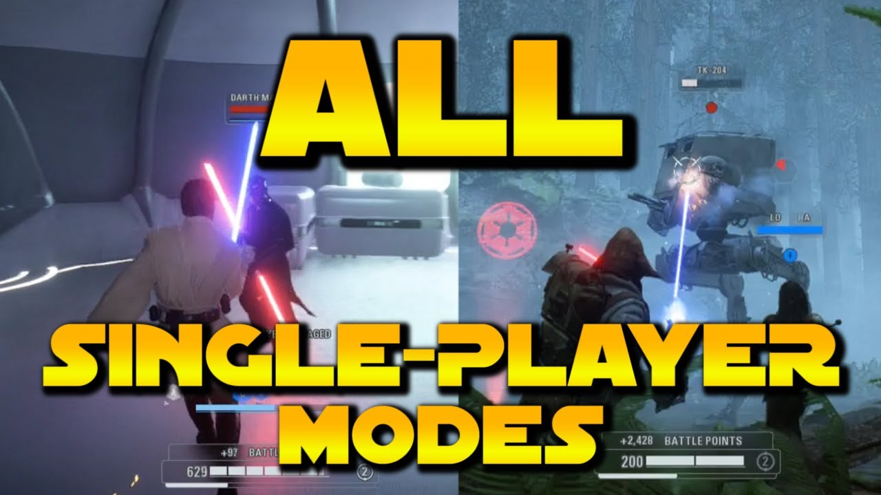 Download ALL SINGLE-PLAYER MODES - Star Wars Battlefront 2 (ALL Offline Content In The Game)