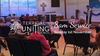8am Service: Sunday 1st November