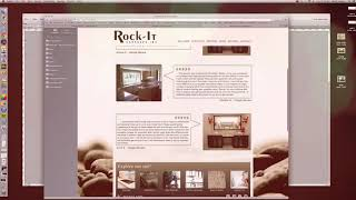 Building a website for a stone shop using Adobe Muse