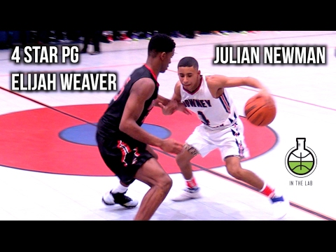 Julian Newman Meets 4 Star PG Elijah Weaver!! Wild 2 OT GAME