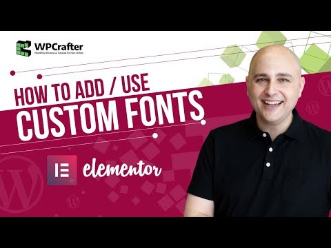 How To Add Custom Fonts To Elementor Free Or Pro For Better WordPress Webdesign