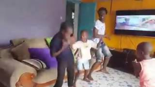 Bahati dancing with kids (family dancing)
