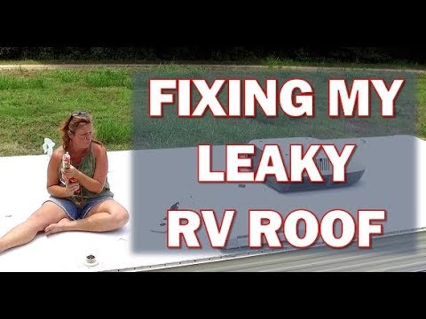 RV Roof Repair: How I Repair A Leaky Roof On My  1993 Class C RV