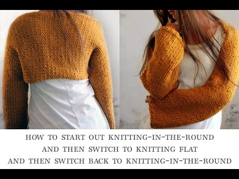 How To Knit-in-the-round, Knit Flat And Then Go Back To Knitting-in-the-round