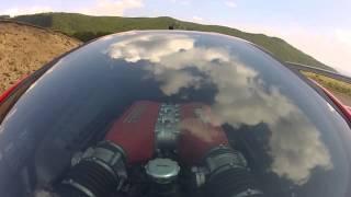 Vali Porcisteanu - Ferrari 458 Italia - onboard @ Ranca 2013 + downhill engine sky view