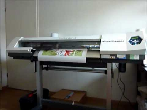 Impression d 39 un sticker d co pour meuble ikea sur roland sp 300i youtube - Stickers ikea meuble ...