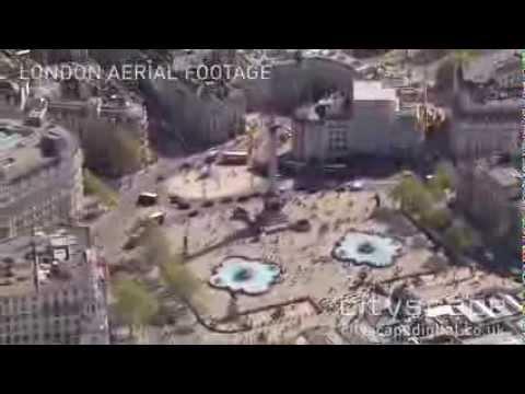 Trafalgar Square, London - Aerial HD Footage