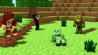 Achievement Hunter Minecraft Animation - On A Rail 2