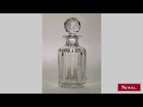 Antique French Victorian crystal fluted perfume bottle