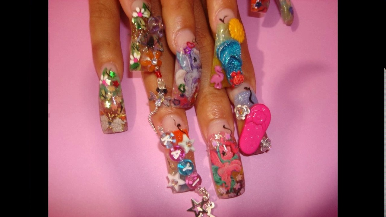 Ivy queen nail designs - YouTube