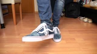 Vans Old Skool DENIM/WHITE - On Feet