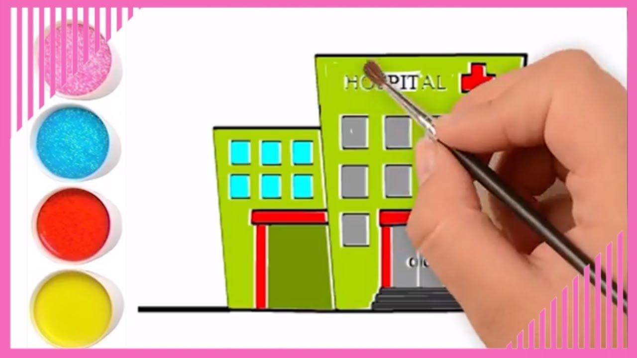 Hospital Belajar Menggambar Dan Mewarnai Sakit Yang Mudah