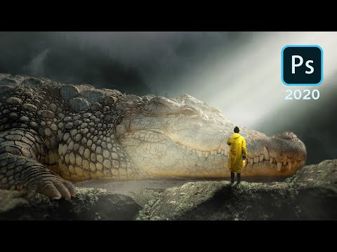 The Legendary Crocodile - Photo Manipulation Photoshop 2020 Tutorial. thumbnail