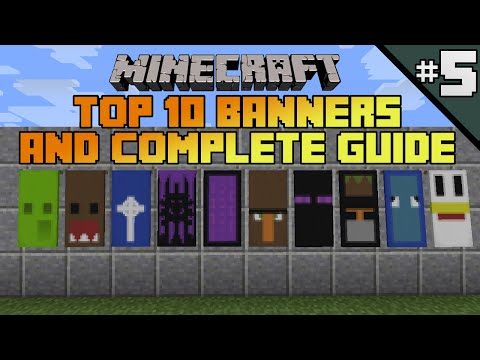 Minecraft top 10 banner designs! Ep 5 With tutorial!