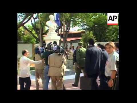 DOMINICAN REPUBLIC: CUBAN LEADER FIDEL CASTRO VISIT