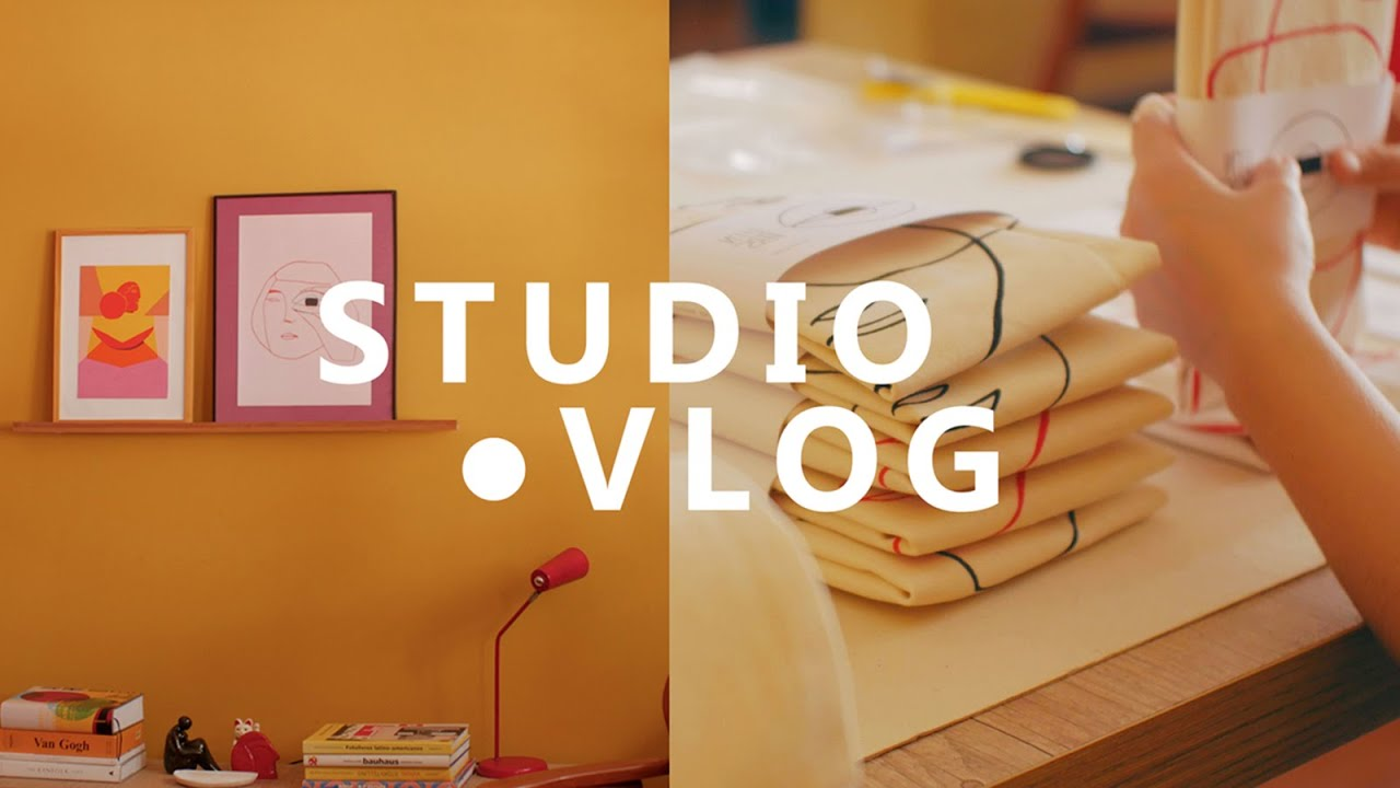 Studio Vlog | Packing and new online shop