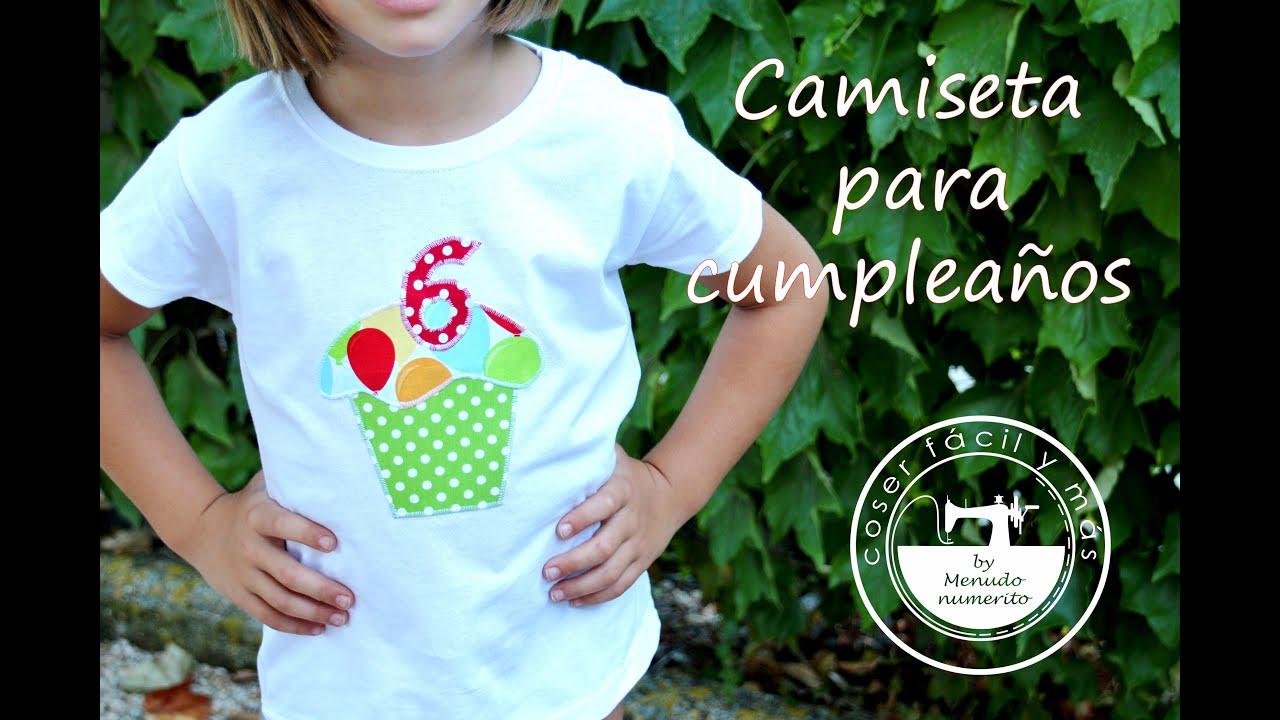 96d81e2eb90 Cómo hacer camisetas para cumpleaños - YouTube