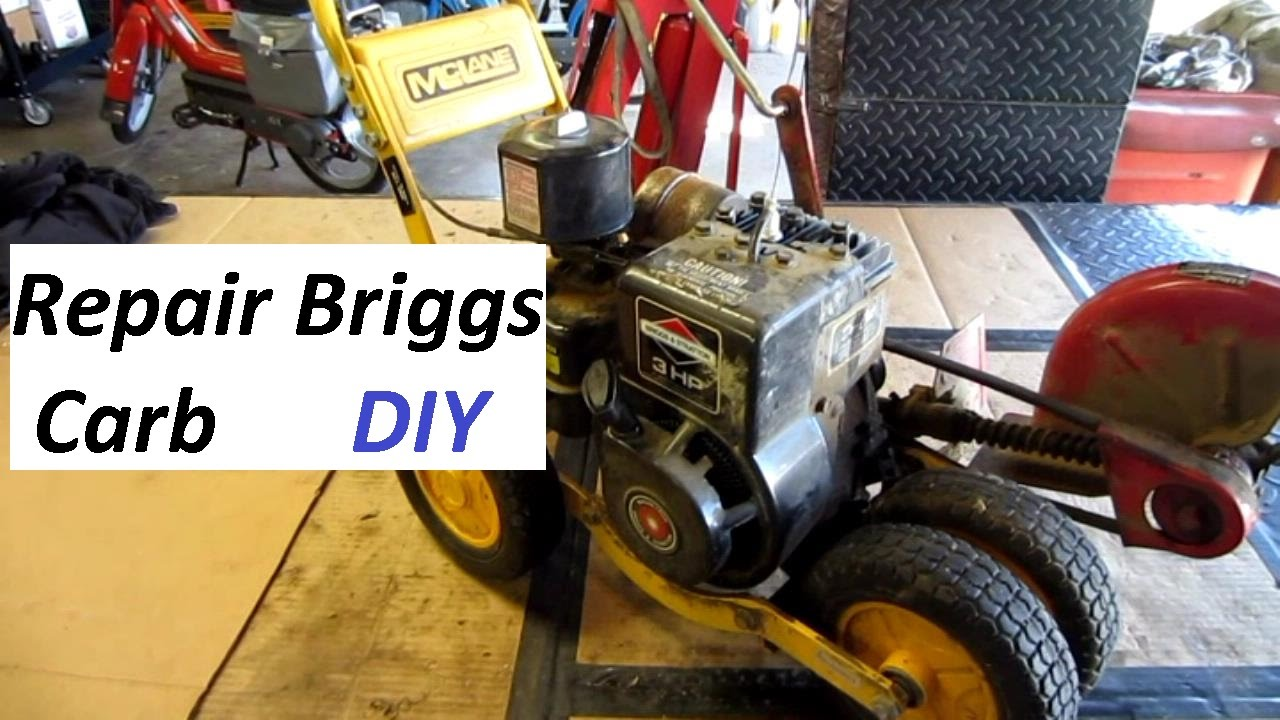 Briggs Carb Repair Step By Youtube Carburetor And Fuel Tank Assembly Diagram Parts List For