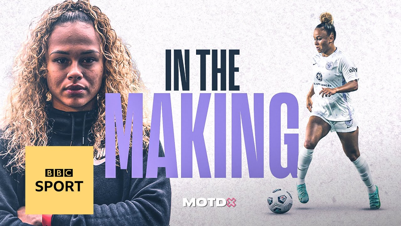The rise of England forward Ebony Salmon | MOTDx In The Making