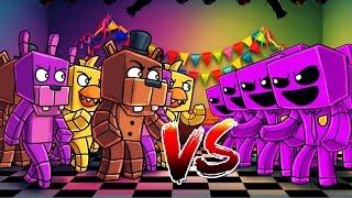 Minecraft   100 FNAF ANIMATRONICS VS 100 PURPLE GUYS! (FNAF Massive Mob Battles)