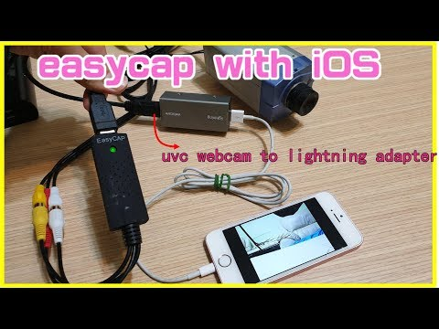 UVC Easycap Capture Card With IPhone By Wire Lightning