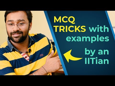 MCQ exam tricks to crack aptitude exams, UPSC, SSC, PO, CAT, JEE, NEET, CA, CPT