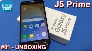 Samsung Galaxy J5 Prime -  Tirando da caixa (unboxing)