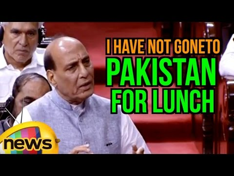 I Have Not Gone To Pakistan For Lunch, Says Rajnath Singh | SAARC Summit | Rajya Sabha | Mango News