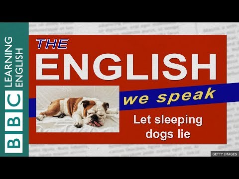 Let sleeping dogs lie: The English We Speak