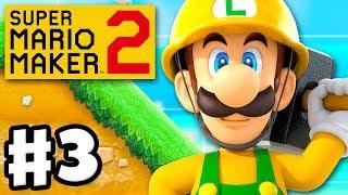 Super Mario Maker 2 - Gameplay Walkthrough Part 3 - Luigi! Parallel Universe! (Nintendo Switch)