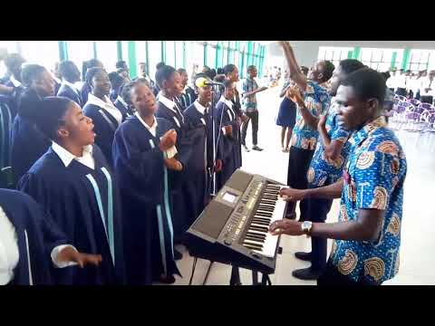 Performance of Accra College of Education School choir during the 12th Matriculation.