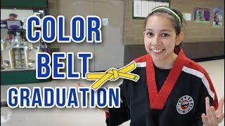 GETTING A NEW BËLT AFTER TESTING | Taekwondo Graduation Ceremony
