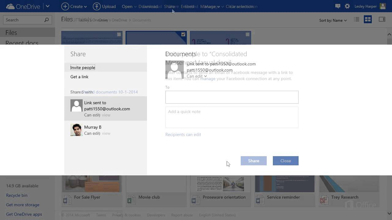 OneDrive Change or Stop Sharing - YouTube