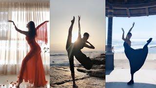 Tik Tok Chinese girl gymnast & dancer, she's so awesome. 抖音 - 璐婉儿,国家级艺术体操运动健将。超完美的线条身材,舞姿也超棒。
