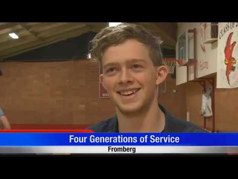 Military service runs deep at Fromberg High School