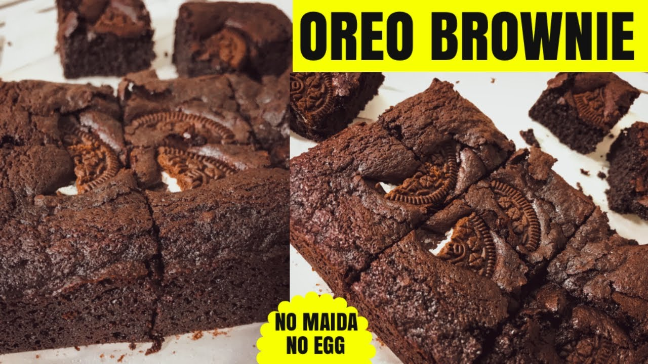 Chocolate Oreo Brownie Only 4 Ingredients in Lockdown | No Egg No        Maida | Eno se OREO BROWNIE