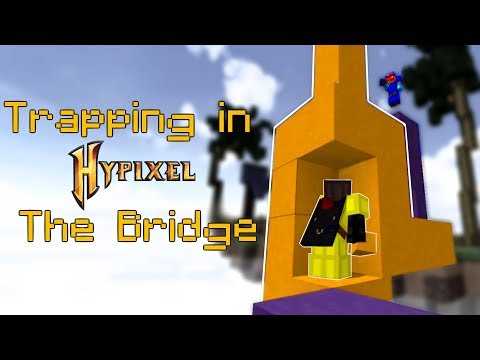 Playing Hypixel The Bridge WRONG way (Trapping Montage)