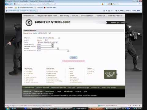 how to set server in counter strike