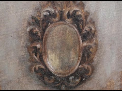 "oil painting live stream ""old mirror""1"