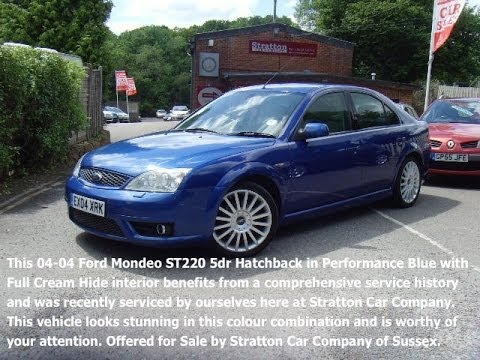 Ford Mondeo St220 30 5dr 4000 01825 713793 Youtube