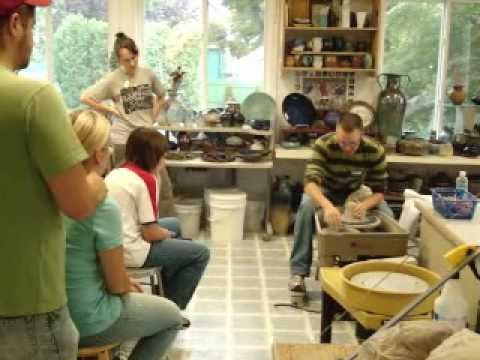 beginners pottery adult  class 1st session
