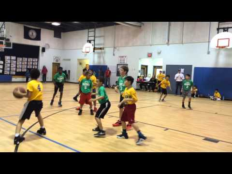 Dominic scored at 1:46 in Burke Basketball game with Fairfax team
