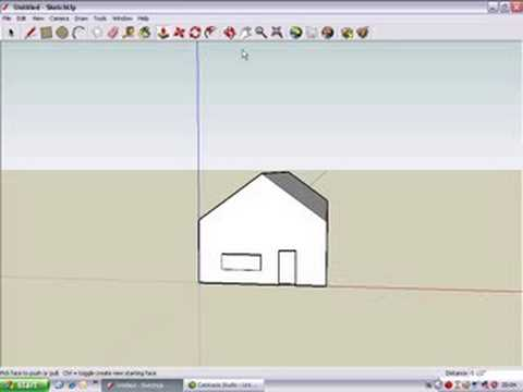 Google sketchup 6 build a simple house youtube for Minimalist house sketchup