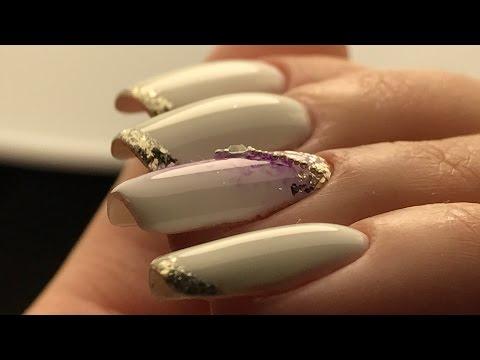 Маникюр градиент на ногтях с песком | Sand & Ombre Nail Art