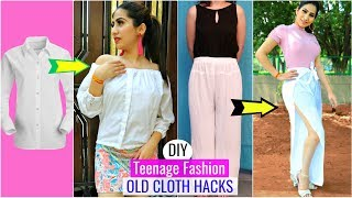 3 TRENDY Fashion DIY for Teenagers | REUSE Your OLD Clothes | #Recycle #styling #Anaysa #DIYQueen