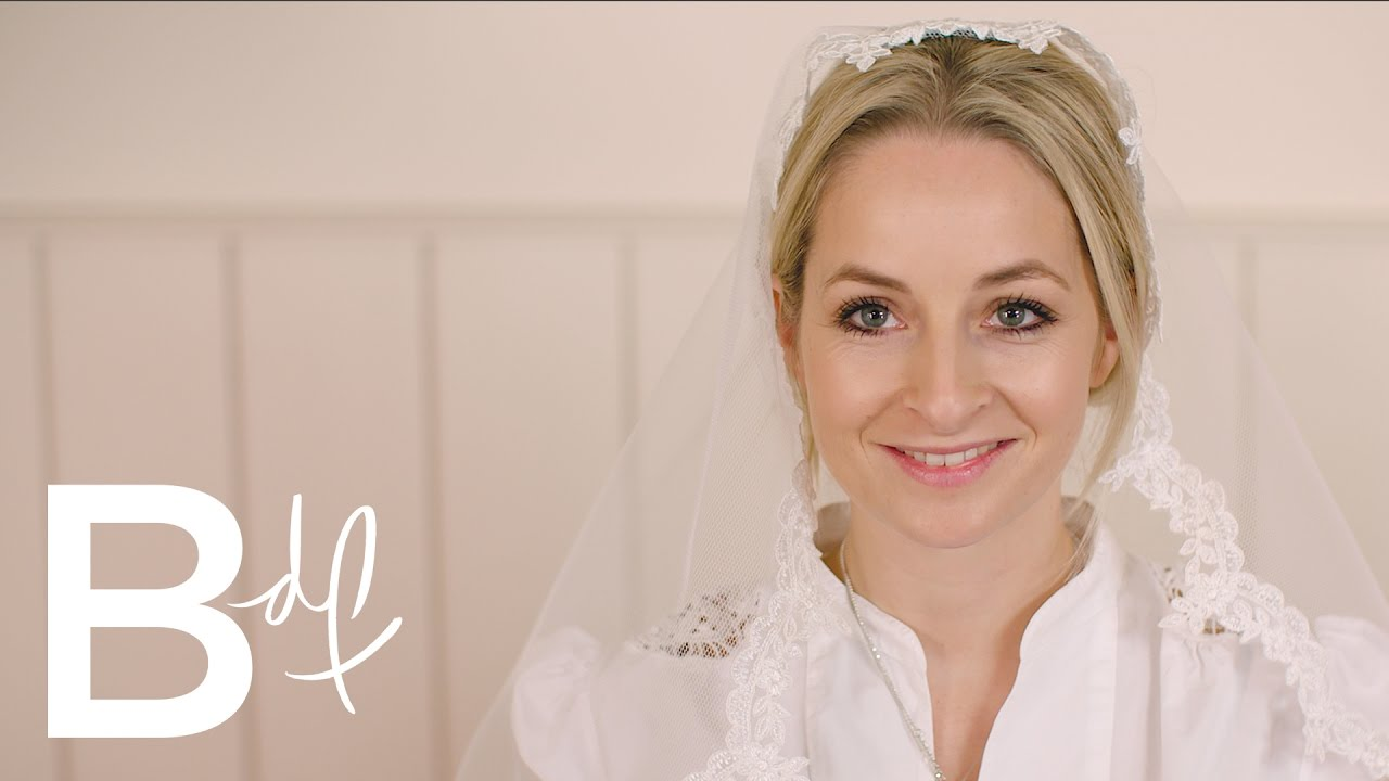 DIY Wedding: Making Your Own Lace Veil - YouTube