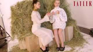 Александра Бортич и Любовь Аксенова в съемке Tatler