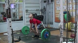 Кожевин Никита, 10 лет, вк 46 На грудь в сед  34 кг Есть личный РЕКОРД! кг  Новичок