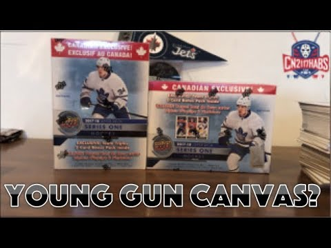 2017-18 Upper Deck Series 1 Hockey Blaster Box Double Opening X2